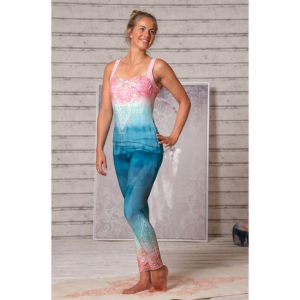 Yoga-Legging indigo/peach